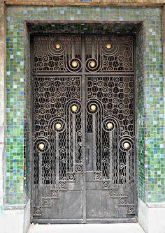 Art Deco Wrought Iron Door, Casablanca by colros Cool Doors, Unique Doors, Art Nouveau, Entrance Doors, Doorway, Grand Entrance, Front Doors, Front Gates, Door Knockers