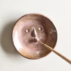 Unknown Picasso Face Dish Incense Holder - Pink
