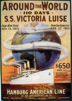 SS Victoria Luise | Retro advertising | Vintage poster