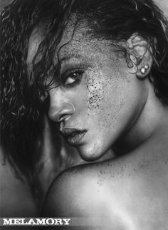 Rihanna - Pencil Art by Olga Melamory Larionova  <3 <3