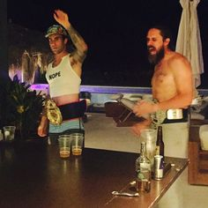 Pin for Later: Celebrity Candids You Don't Want to Miss This Week  Behati Prinsloo took a photo of her husband playing beer pong (in a cropped shirt).  Source: Instagram user behatiprinsloo