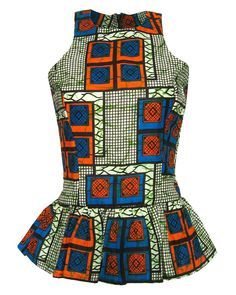 African-Inspired Fashion Styles : ethical fashion Vlisco - The Vlisco Hommage a l'Art Collection campaign is lensed by Koen Hauser's lens. African Print Peplum Top, African Print Dresses, African Dress, African Tops, African Shirts, African Women, African Inspired Fashion, African Print Fashion, African Attire