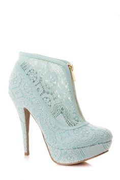 Lilliana Lace Zip Up Booties