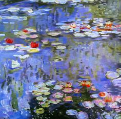 Water Lilies-Monet #Beautiful #Handmade #Silk #Embroidery #Art #Etsy 76084 http://www.queensilkart.com/100-handmade-embroidery-feng-shui-framed-flower-floral-water-lilies-monet-76084/ This glorious water lily pond, hand stitched in pure silk, was inspired by Claude Monet's Water Lilies (1916) from the series painted by the French Impressionist painter in his garden at Giverny in the late nineteenth and early twentieth century.