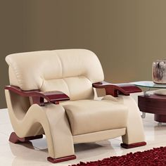 Global Furniture Bonded Leather Chair | Overstock™ Shopping - Great Deals on Living Room Chairs