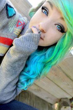 crazy blue neon hair!!