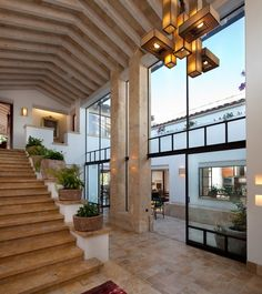 Residencial | ARTIGAS Arquitectos Villa Design, Dream Home Design, My Dream Home, Beautiful Interiors, Beautiful Homes, Mission Style Homes, House Viewing, House Stairs, Mediterranean Homes