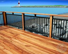 deck railing ideas with wood and iron | Wood Deck Ideas - Landscaping Network