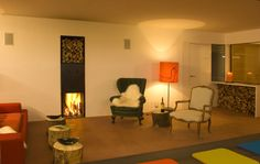 Kaminzimmer #architecture #hotel #chalet #interior #apartment Architekt: HolzBox Tirol, Foto: Gerda Eichholzer Box, Lighting, Design, Home Decor, Apartments, Homes, Homemade Home Decor, Light Fixtures, Lights