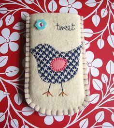Bird motif, cellphone case