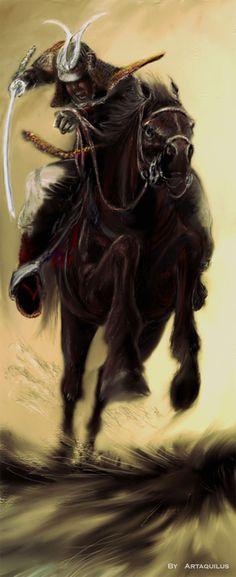 samurai a cavalo