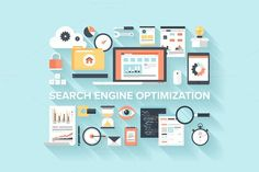 Flat SEO Concept. Business Infographic. $7.00