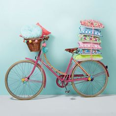 New Products from Bombay Duck & UK Stockists. I love everything about this pink bike and its pom pom trim and pretty pom pom decorations attached everywhere!