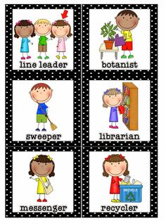 Do you assign classroom helpers in your room? I use enough jobs in my class so that every student has something for the day. I rotate my s. Preschool Helper Chart, Classroom Helper Chart, Free Preschool, Preschool Printables, Preschool Ideas, Free Printables, Preschool Classroom Jobs, Kindergarten Jobs, Kindergarten Centers