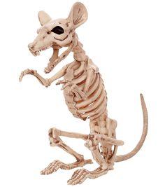 The Boneyard Halloween 11'' Skeleton Rat