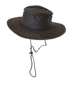 Cappello Natowa modello australiano, in cotone cerato impermeabile