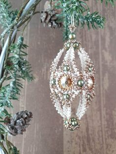 Beading pattern - Christmas Cone Ornament - Trinkets beading