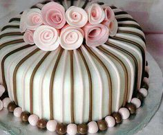 Pretty for a shower or party. Variations on color would make this a great wedding cake
