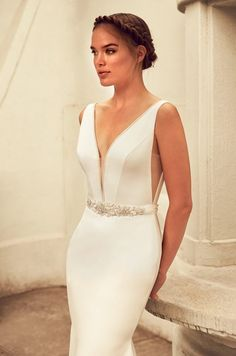 Elegant Satin Wedding Dress - Style #4796 | Paloma Blanca