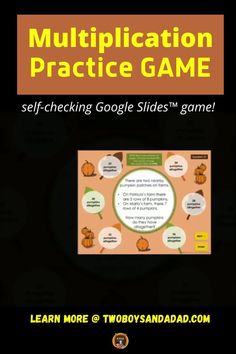 Important for all 3rd graders, multiplication is a gateway to higher math. WIth this self-checking Google Slides game, students practice multiplication facts with equal groups, arrays, and number lines as well as solving real-world word problems. This activity has 25 problems that also have some practice with the Properties of Multiplication. Great for distance or hybrid learning situations. Discover and learn more! #twoboyadndadad Distributive Property Of Multiplication, Properties Of Multiplication, Multiplication Activities, Multiplication Chart, Teaching Numbers, Teaching Math, Teaching Resources, Math Tips, Math Strategies