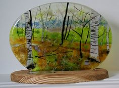 Fused glass landscape