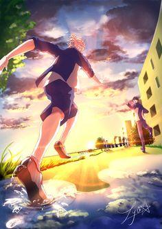 Prince of Stride - Yagami Riku & Fujiwara Takeru in episode 10 by Lyu* on pixiv