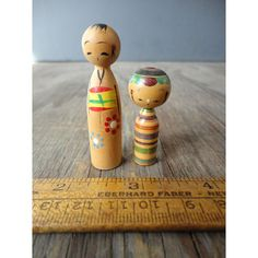 Vintage Kokeshi Dolls  Wooden Japanese by JustSmashingDarling, $19.95
