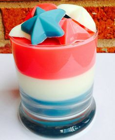 Perfect for the 4th of July! https://www.etsy.com/listing/234045054/3-layer-scented-soy-candle-and-scented