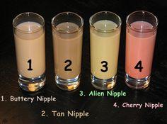 Nipples (Buttery, Tan, Alien & Cherry) | Hampton Roads Happy Hour