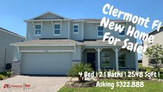 Clermont Florida New Home For Sale Property Tour | Ivanhoe Inventory Hom...