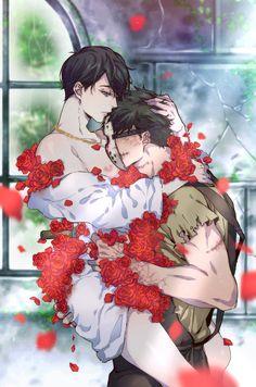 Anime Couples Drawings, Couple Drawings, Anime Demon Boy, Nose Bleeds, 2d Character, Ichimatsu, Cover Pics, Dark Fantasy, Love Art