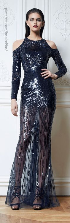 Fall 2013 Ready-to-Wear Zuhair Murad glitter gown