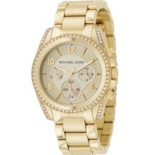 Michael Kors 'Blair' Chronograph Watch Gold One Size