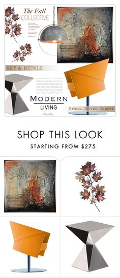 """""""Modern Fall C o l l e c t i v e - Living"""" by nonniekiss ❤ liked on Polyvore featuring interior, interiors, interior design, home, home decor, interior decorating, C. Jeré, Driade, West Elm and modern"""
