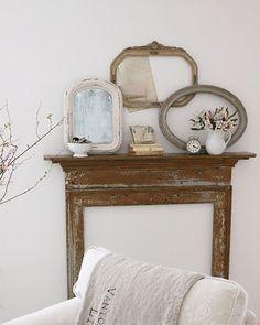 hey, ik krijg een idee! Als ik nu eens zo´n schouw met daarin een spiegel doe boven de wastafels in de badkamer! wow, das noggus apart! :)