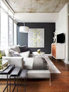Цвет потолка для комнаты в сером цвете.