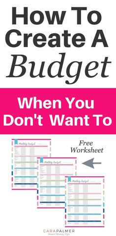 5 Easy Steps To Create A Budget That You& Actually Use. A step by step Easy Steps To Create A Budget That You& Actually Use. A step by step guide to creating a budget. Making A Budget, Create A Budget, Making Ideas, Budget Help, Easy Budget, Monthly Budget Planner, Budget Binder, Monthly Expenses, Budget Tracking