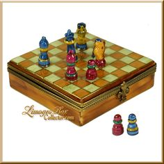 Chess Board Game Limoges Box (Rochard)