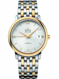 Omega Ladies De Ville Two Tone Silver Watch 424.20.37.20.02.001