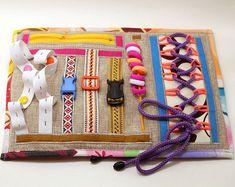 Handmade Sensory Fidget Blankets Toddler Learning Activities, Rainy Day Activities, Raising Godly Children, Sensory Blanket, Fidget Blankets, Pretend Food, Linen Bag, Fidget Toys, Sensory Toys
