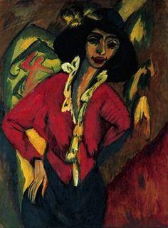 Gerda, par Ernst Ludwig Kirchner