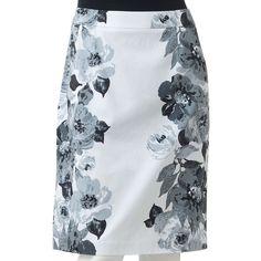Apt. 9® Floral Pencil Skirt ($30) ❤ liked on Polyvore