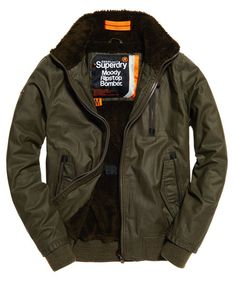 Superdry Moody Ripstop Bomber Jacket Green