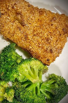 """Air-Fried Keto Coconut-Breaded Cod 