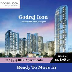 Godrej Properties provides a new ready to move in Godrej Icon At Sector 88A Gurgaon. It offers 2/3 BHK Luxury apartments in the prime location of Dwarka Expressway.Call @ 90158-99999 to know more in detail. #Godrejicon #Godrejicongurgaon #godrejiconsector88agurgaon #Godrejiconsector88gurgaon #Godrejiconsector88 #Godrejicongurgaon #Icongurgaon #Theicongurgaon #Godrejicondwarkaexpressway #gurgaonproperties Luxury Apartments, Weather, Detail, Weather Crafts, Apartments