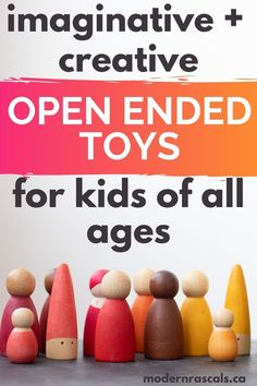 We carry the best non-toxic kids toy brands that promote creativity and imagination through open ended play. If you're looking for ideas for your toddlers or children or if you have Montessori toy ideas on your list, check out Modern Rascals - we believe in fun for kids through organic, sustainable, eco-friendly, and non-toxic organic kids products. #openendedtoys #organickidsproducts #ecofriendly #sustainable #toddlerplay #kidsplay Toys For Us, Toys For Girls, Kids Toys, Outdoor Activities For Kids, Infant Activities, Grimm's Toys, Baby Toys, Eco Friendly Toys, Bee Friendly