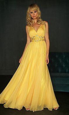 vestido amarelo longo em miami - Google Search