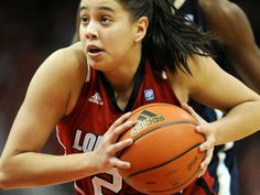 Louisville's Shoni Schimmel drives against Notre Dame at the KFC YUM! Center Feb., 20, 2012