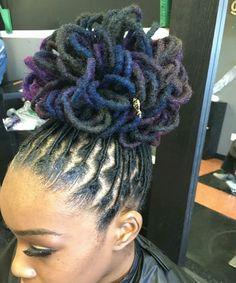 locs, natural hair,  hair style