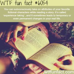 WTF Fun Facts is updated daily with interesting & funny random facts. We post about health, celebs/people, places, animals, history information and much more. New facts all day - every day! I Love Books, Books To Read, My Books, Reading Books, Reading Tips, Reading Activities, The More You Know, Good To Know, Wtf Fun Facts